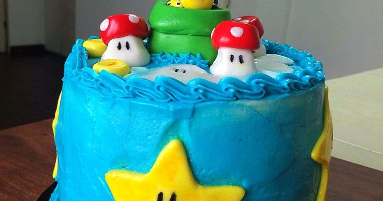 Cake de Marios Bros con buttercream