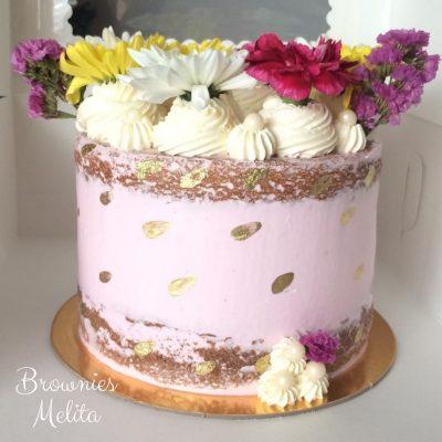 Cake de Corona Floral Colorido