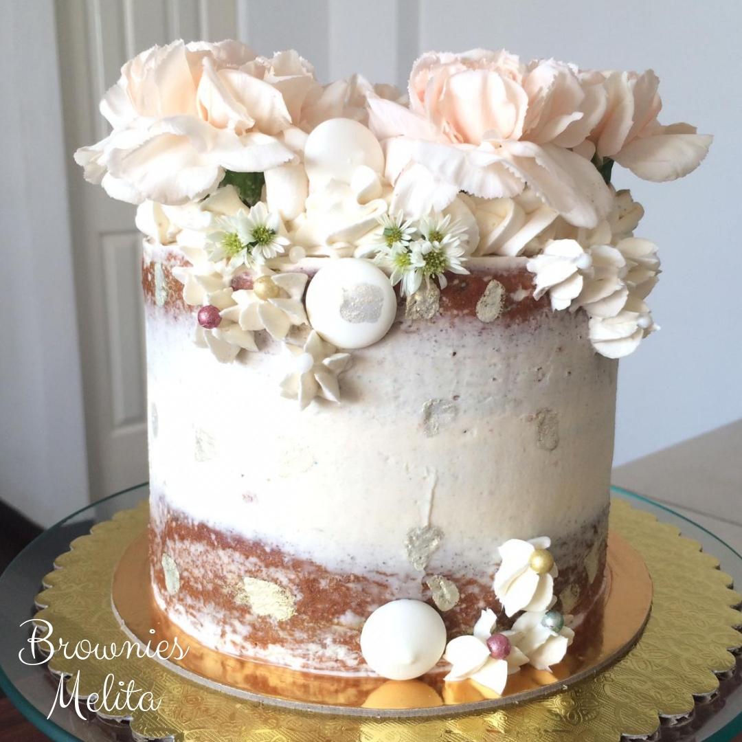 Cake de Corona Floral Sencillo